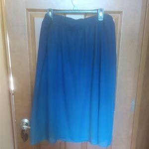 Ombre dip dye old navy skirt XL chiffon blue